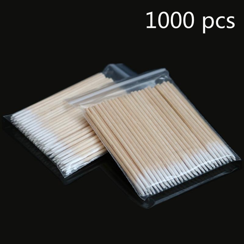 1000 шт деревянные ватные палочки для наращивания ресниц, инструменты для медицинского ухода за ушами, чистящие деревянные палочки, косметич...