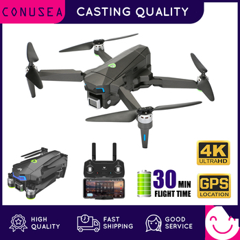 CONUSEA WPro Drone with 4K Camera 30 Mins Flight Time Brushless Motor Follow Me Foldable GPS Drones Professional RC Quadcopter