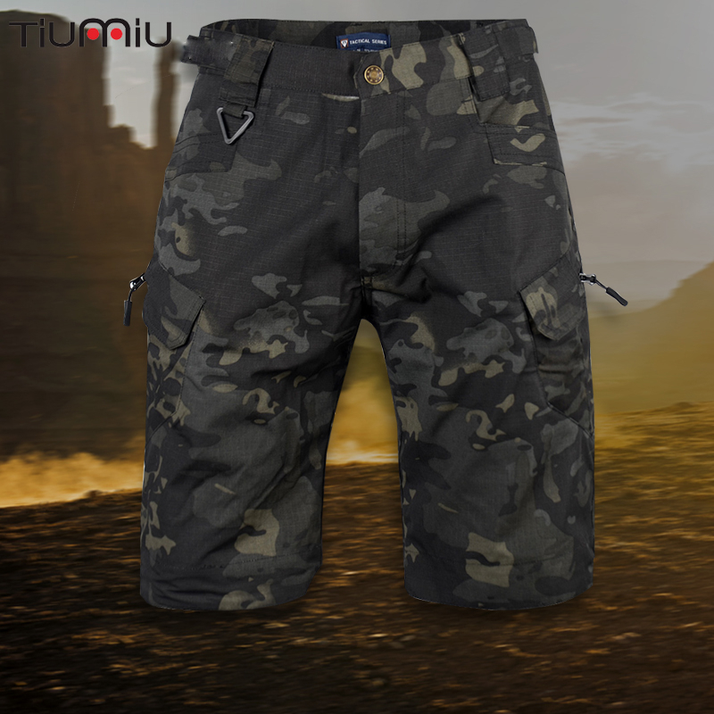 Men Military Cargo Shorts Summer Camouflage Special Forces Training Tactical Umiforms Army Outdoor Sports Loose Cargo Pants