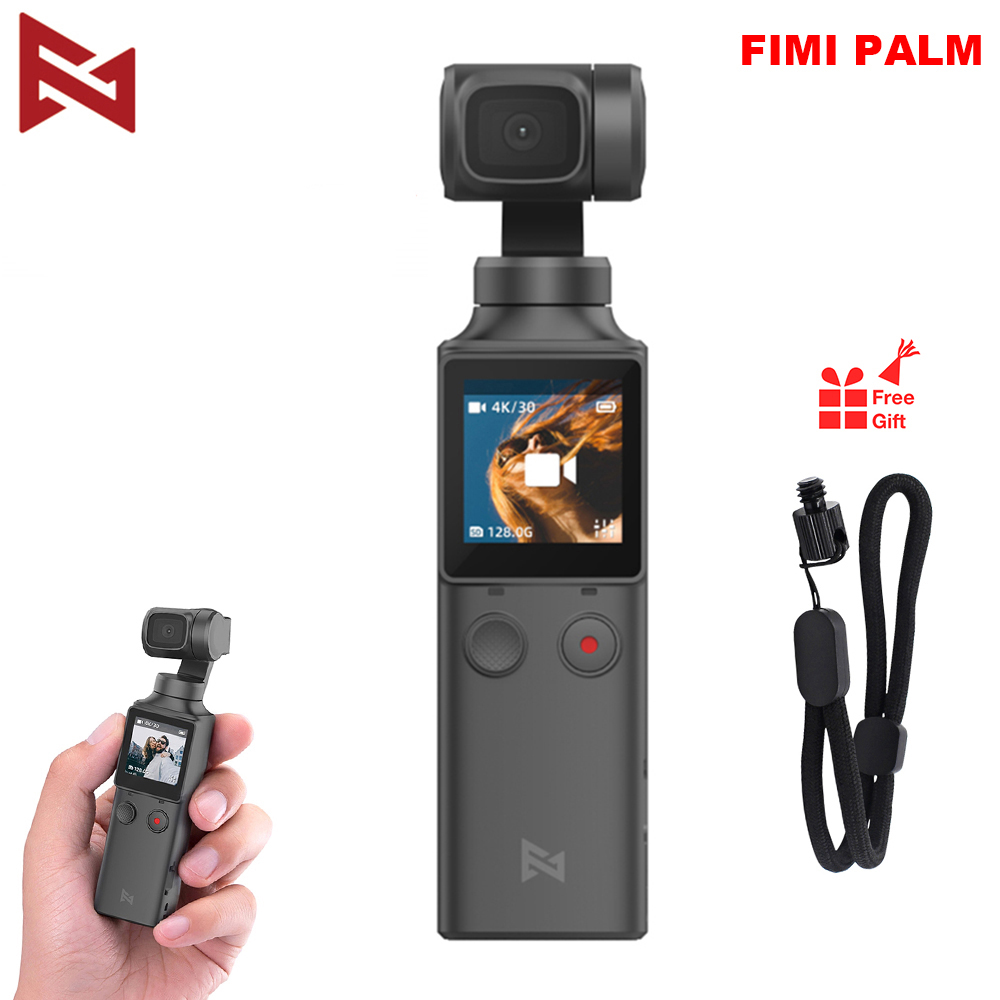 FIMI PALM Camera 3-Axis 4K HD Handheld Gimbal Camera Stabilizer Only 120g & 128° Wide Angle Smart Track Built-in Wi-Fi Control