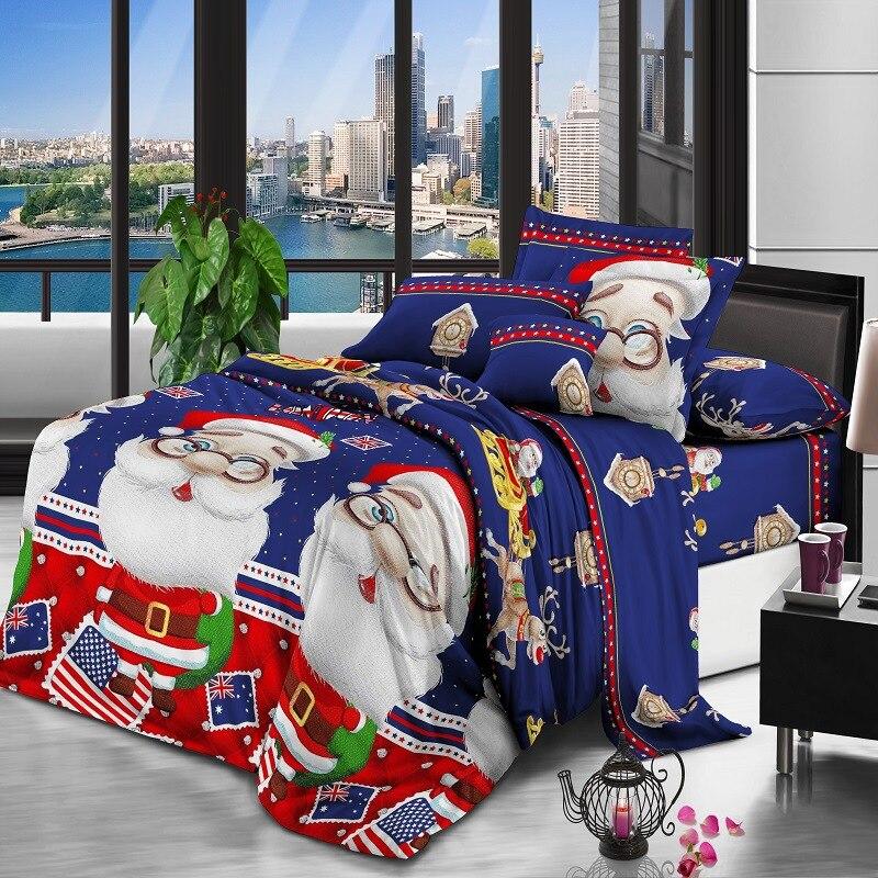 3D Textile AliExpress Hot Sales Santa Claus Christmas Gift Bedding Four Sets