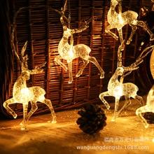 Festoon Led Light Sika Deer String Holiday Lighting USB/Battery Operated Garland Christmas Wedding decorations Fairy Lights