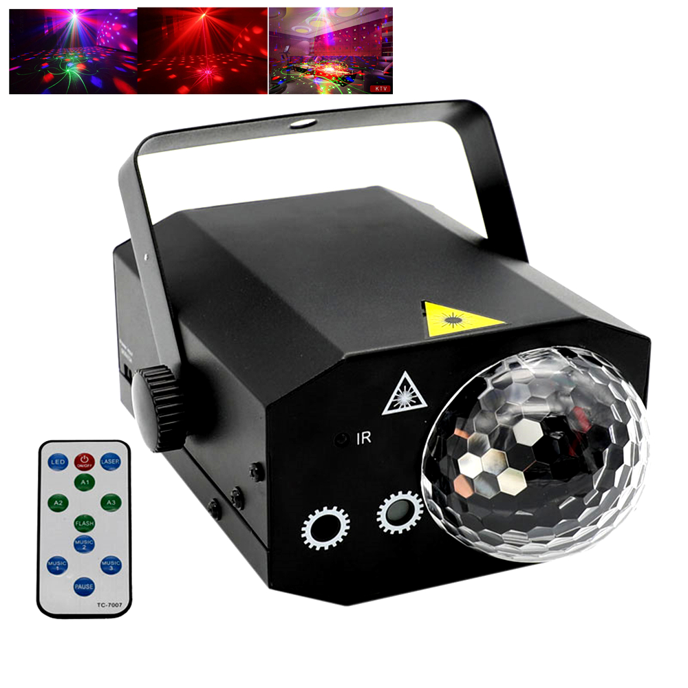 60in1 Pattern Effect Laser Light with LED Crystal Magic Ball Disco RGB Projector Party Lights DJ Lighting Effect laser Show
