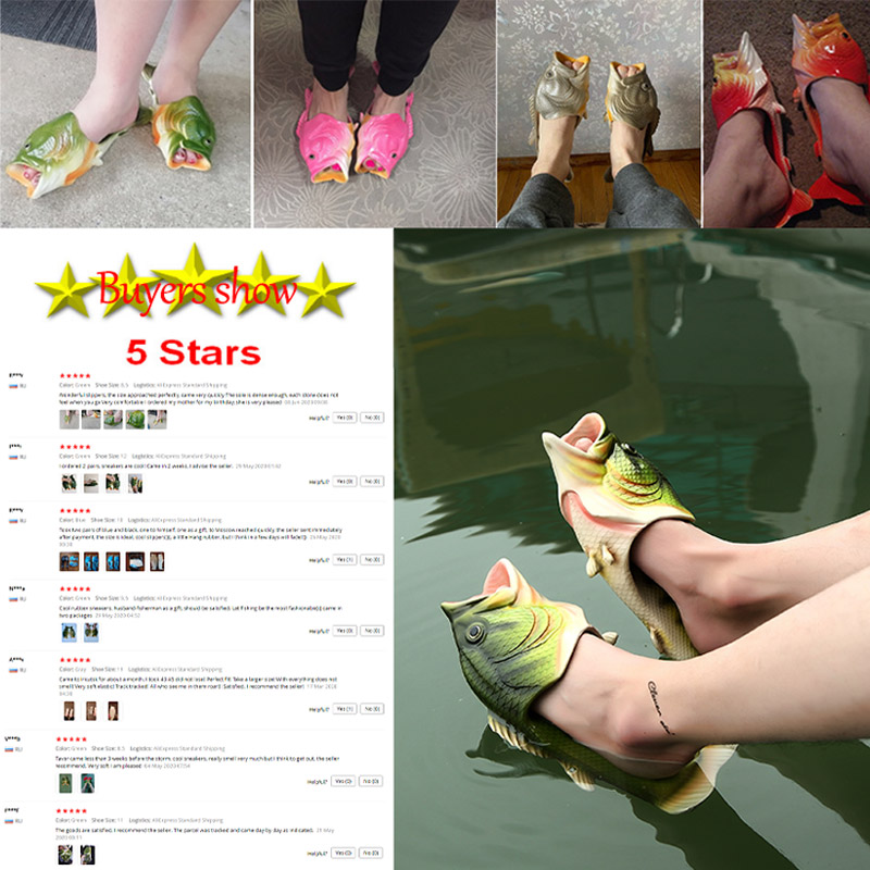 Pantoufles drôles homme chaussures famille maison chaussures hommes grande taille 33-47 été plage pantoufles garçons unisexe poisson pantoufles hommes 2020