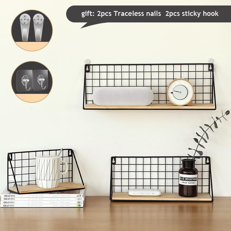 Iron Wooden Shelf for Decorative Wall Shelves  1