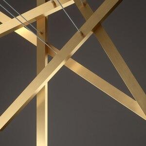 Image 5 - 現代ミニマリストオフィスロングラインシャンデリア照明ショップ展示ホールストリップダイニングリビングルームledシャンデリア