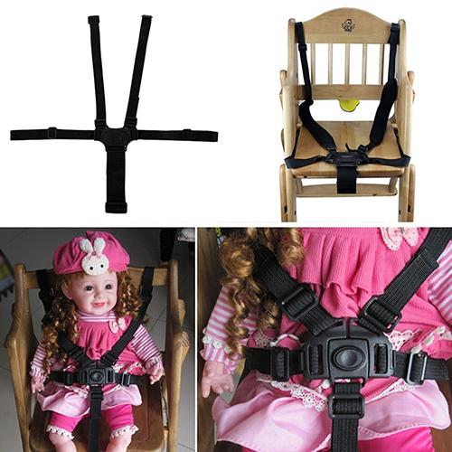 Baby 5 Point Safe Belt For Stroller Chair Pram Buggy Infant Seat Strap Harness Nylon For Baby Dining Chair Tricycle Baby New