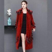 Big Fur Faux Fur Coat Female Jacket Winter Coat Women Clothes 2020 Korean Vintage Warm Long Tops Plus Size Manteau Femme ZT4599