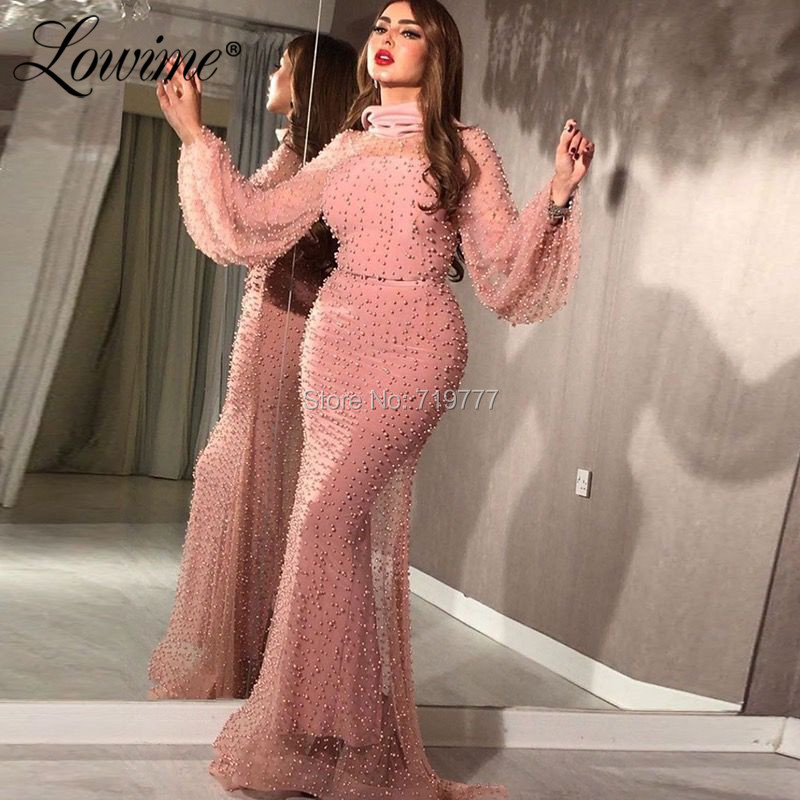 Middle East Beaded Party   Dress   Arabic Formal   Evening     Dresses   2019 Robe De Soiree Mermaid Long Prom   Dresses   Gowns Abendkleider