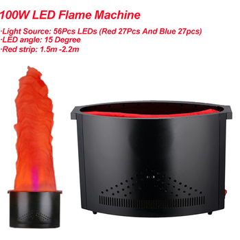 цена на 2.2meter Red Blue Fake Fire Flame Lighting 54 LED Fire Machine Stage Special Effect LED Lamp Silk DJ Disco Wedding Flame Machine