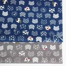 Хлопковая ткань с рисунком кошек 100% хлопок саржевая Ткань