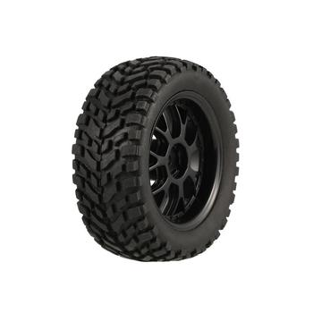 4Pcs 75mm Rubber Rally Climbing Car Off-road Wheel Rim And Tires Hex For HSP HPI 1:10 RC Racing Car Accessories Component