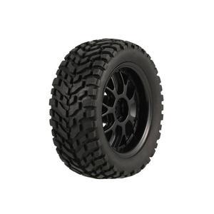 Image 5 - Jantes et pneus hexagonaux pour voiture de course en caoutchouc 75mm, 4 pièces, composants accessoires pour HSP HPI 1:10 RC