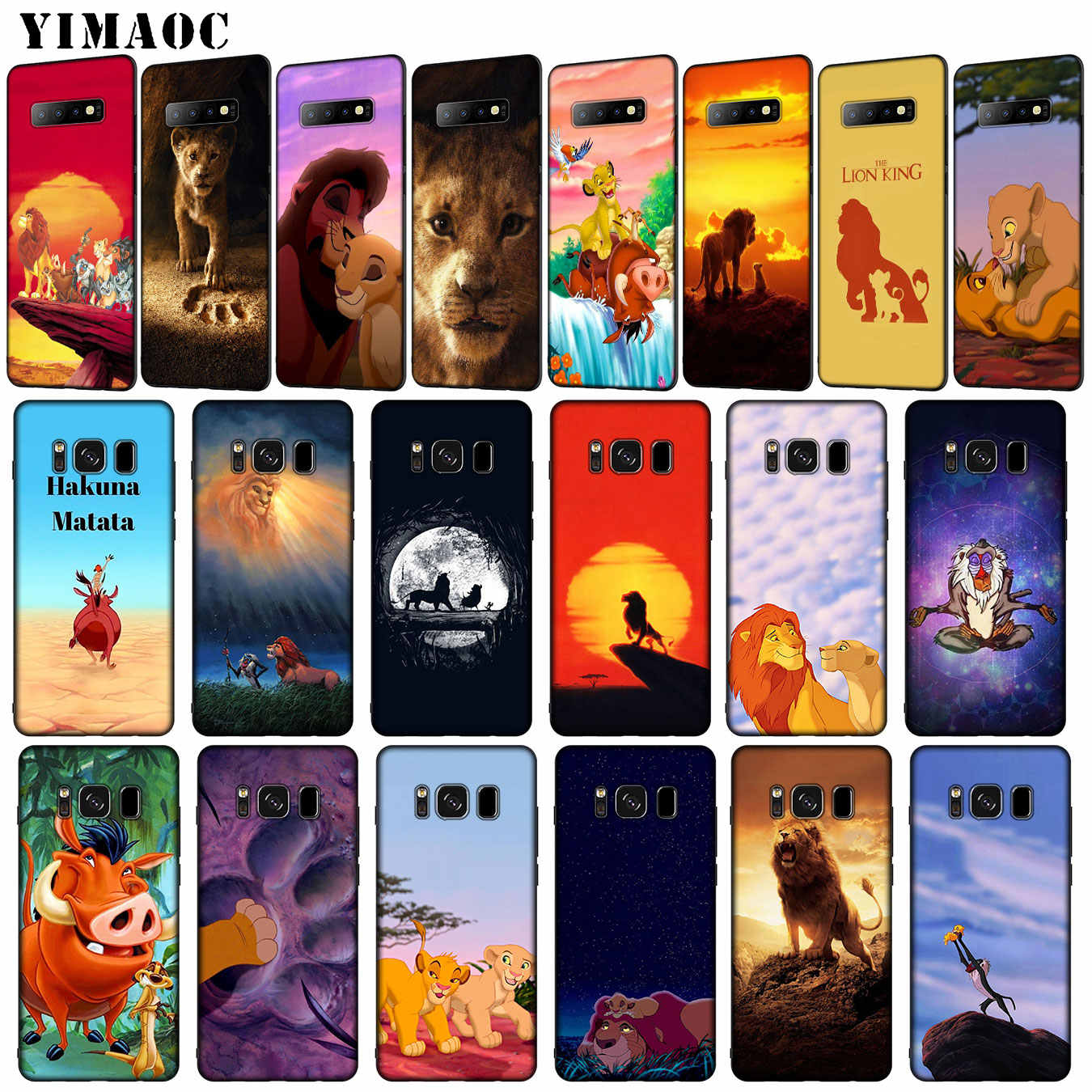 Cartoon The lion king 2019 pig Soft Silicone Phone Case for Samsung Galaxy S10 E S9 S8 Plus S6 S7 Edge S10e TPU Black Cover