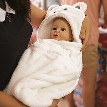 Cartoon Baby Infant Bath Towels 3D Lovely Soft Fleece Baby Bath Towel Kids Hooded Cloak Blanket Kids Children Shower Products