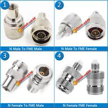 4X Pcs Kit Set N To FME Male & Female plug Cable RF Connector Socket Straight Nickel Plated Brass Coaxial N - FME RF Adapters