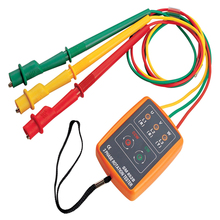 цена на Phase sequence tester Indicator 3Phase Rotation Tester Digital Phase Indicator Detector LED Meter 60V~600VAC Free Shipping