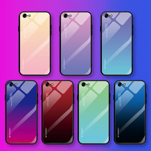Image 5 - Gradient Tempered Glass Case For iPhone XR 7 8 6 6s Plus on the For iPhone X XS XS Max Phone Cases Cover Protective Fundas