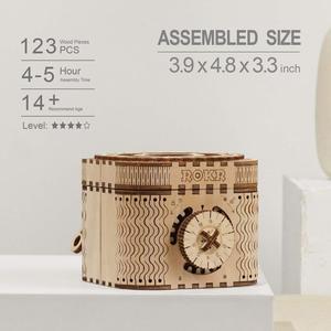 Image 4 - Robotime 123 قطعة الإبداعية DIY بها بنفسك ثلاثية الأبعاد صندوق خزانة المجوهرات خشبية لغز لعبة الجمعية لعبة هدية للأطفال المراهقين الكبار LK502