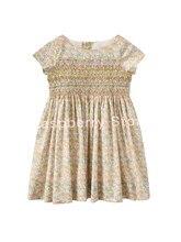 Pré-venda maio 25th meninas vestido smocked algodão vestido bp roupas estilo camella rosa floral vestido liberdade betsy