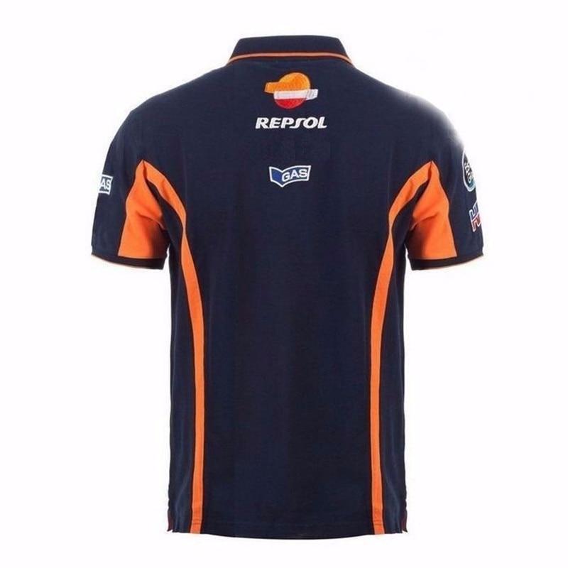 Новая летняя футболка Repsol с газовым мотоциклом для Honda, рубашка поло, гоночный мотоцикл, мотоцикл