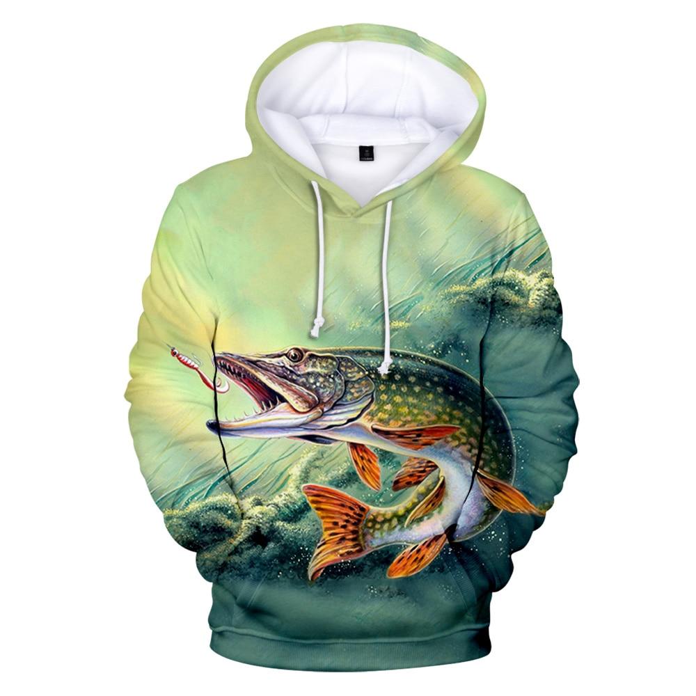 Popular Hoodies 3D Fish Men Women Sweatshirts Fashion Print Hooded Tops Casual Boy Girls Spring Autumn Pullovers
