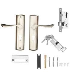 Mechaniczne zestaw zamka drzwiowego uchwyt ze stopu aluminium Deadbolt zamki zatrzaskowe wnętrze zamek zestaw drzwi sprzętu biuro w domu bezpieczeństwa w Zamki do drzwi od Majsterkowanie na