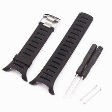 Acessórios de relógio pulseira de silicone de borracha macia para suunto t series t1 t1c t3 t3c t3d t4c t4d pulseira de relógio de mulher masculina