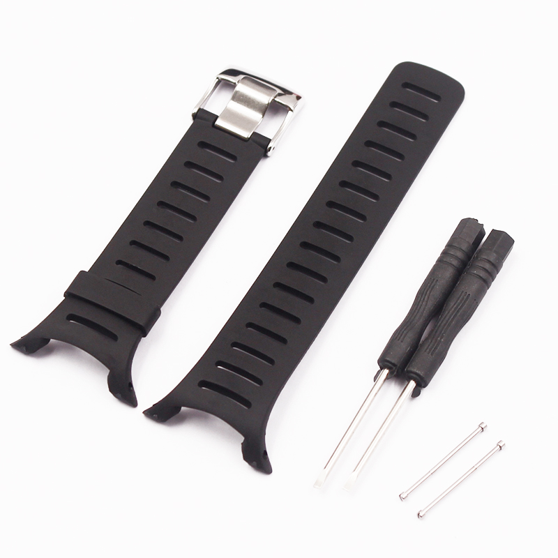 Watch Accessories Soft Rubber Silicone Strap  For SUUNTO  T Series  T1 T1C T3 T3C T3D T4C T4D Men Women's Watch Strap
