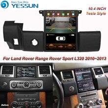 랜드 로버 레인지 로버 스포츠 L320 용 테슬라 스크린 2010 2011 2012 2013 자동차 안드로이드 멀티미디어 플레이어 10.4 인치 카 라디오 GPS