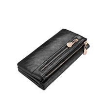 LOVEVOOK women wallet long purse for mobile phone double zipper artificial leather card holder female coin purse and clutch(China)