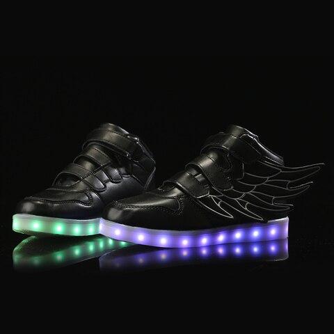 led light up para meninos meninas zapatillas con ruedas