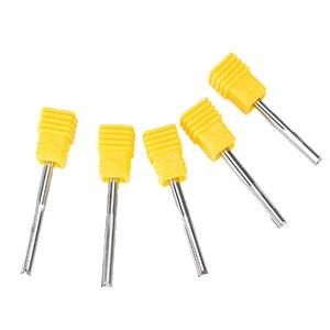 Image 3 - UCHEER 1pc 3,175 4 6mm Zwei Flöten Gerade router Fräser für holz CNC Gerade Gravur Schneider Hartmetall ende mühle Werkzeuge