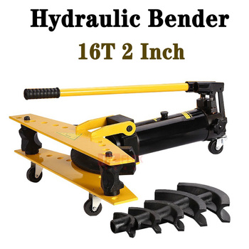 16T 2 Inch Manual Hydraulic Pipe Bending Machine Pipe Bender Hydraulic Pipe Bending Tool three in one manual pipe bender tube bending machine 180 degree metric 6mm 8mm 10mm tubing bender pipe bending machine