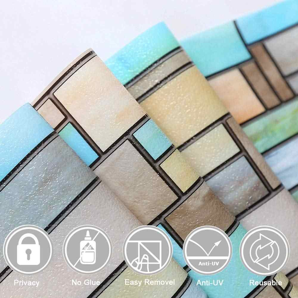 LUCKYYJ Privacy Finestra Che Copre Mattoni Macchiato Window Film Impermeabile Del Vinile Static Cling Self-adesivo Finestra di Vetro Autoadesivo Decorazione