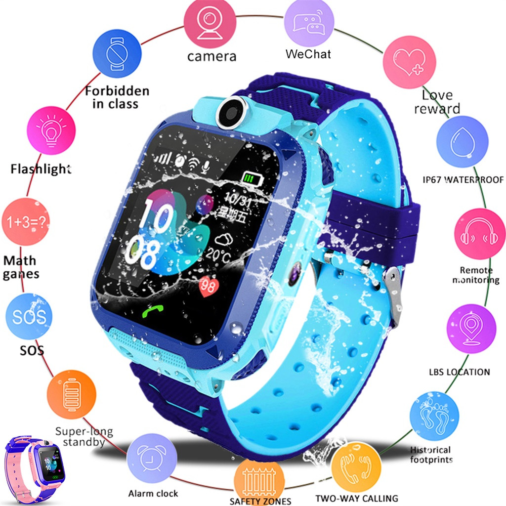 <font><b>Kids</b></font> <font><b>Smart</b></font> <font><b>Watch</b></font> SOS Antil-lost Smartwatch Baby 2G SIM Card Clock Call Location Tracker PK Q50 <font><b>Q90</b></font> 620 image
