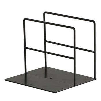 1 Pair Wrought Iron School Decorative Shelves Simple Desktop Home Supports Organizer Stationery Office Anti Slip Bookends Stand 1
