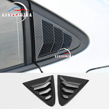 For Toyota Corolla 2020 Carbon Fiber Color Car Rear Side Window Louvers Decorate Cover Trim