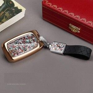 Чехол для ключей с кристаллами и бриллиантами, брелок для Land Rover Range Rover Freelander 2 Sport Evoque, 5 кнопок, умный дистанционный Автомобильный ключ