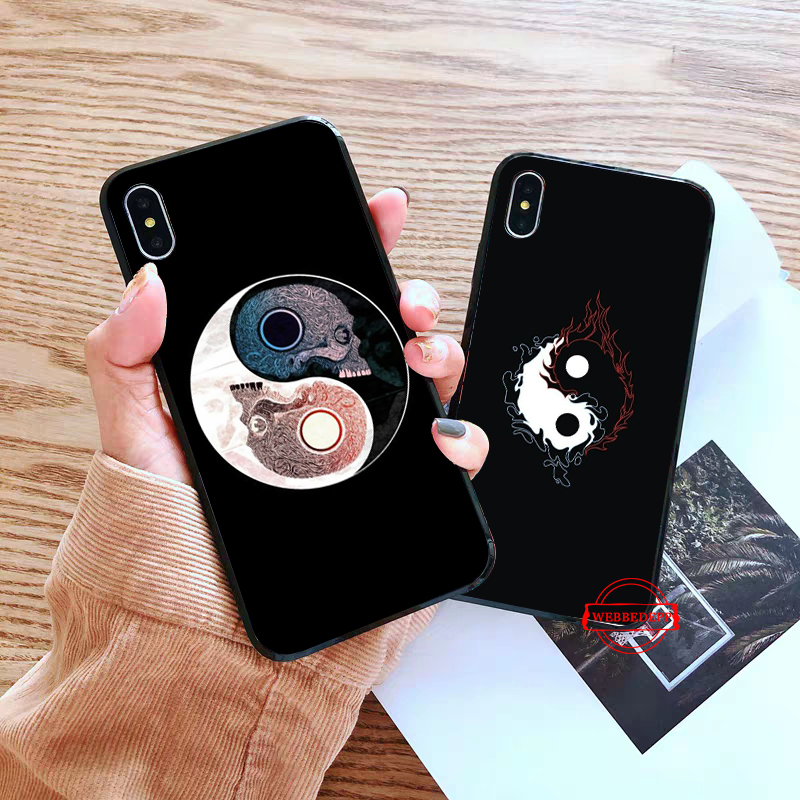 WEBBEDEPP Yin Yang Chinese Silicone Case for Huawei P8 Lite 2015 2017 P9 2016 Mimi P10 P20 Pro P Smart 2019 P30 in Fitted Cases from Cellphones Telecommunications