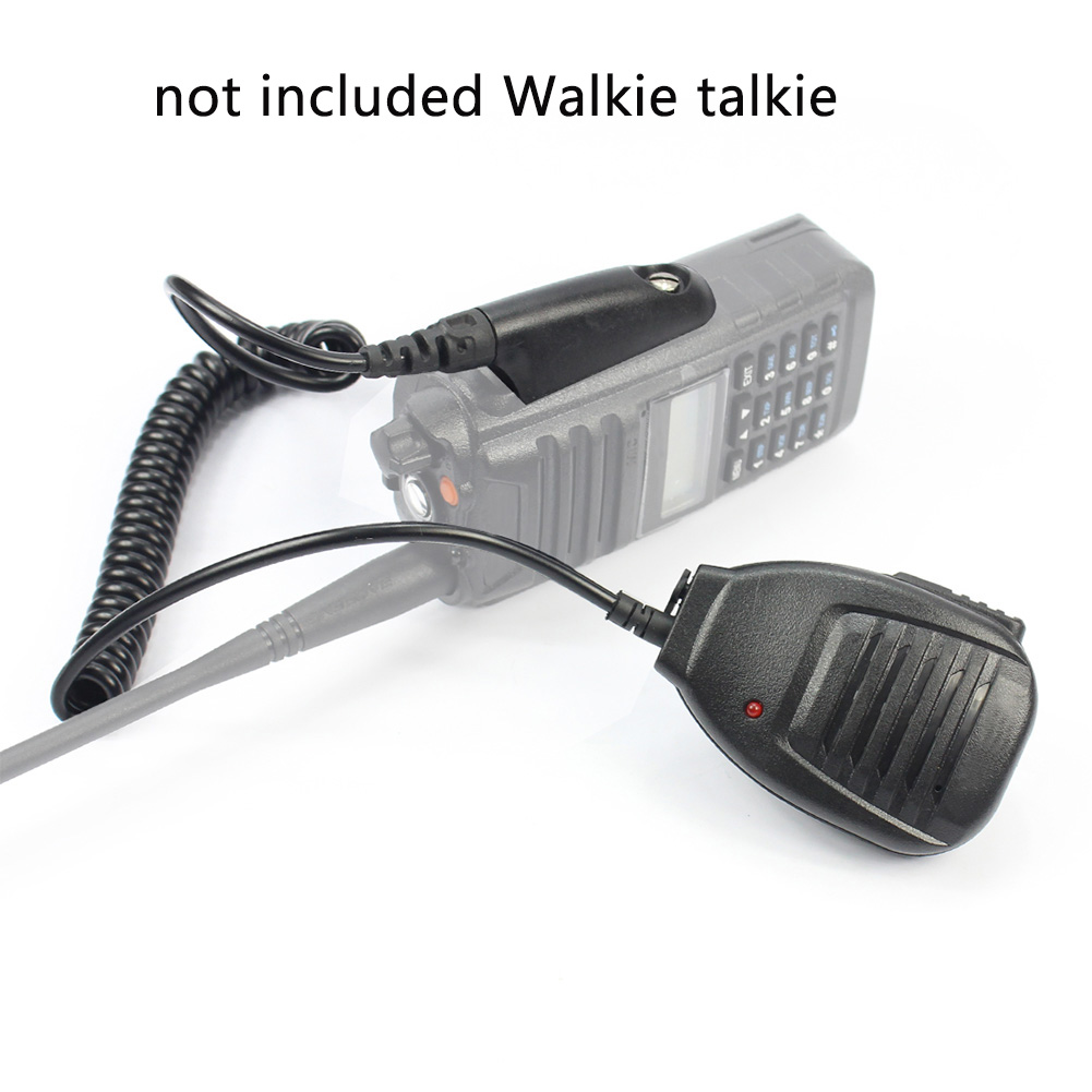 Mini Durable Solid With Indicate Light Parts Hand Microphone Replacement Waterproof Walkie Talkie Clamp Electronics For BF UV9R
