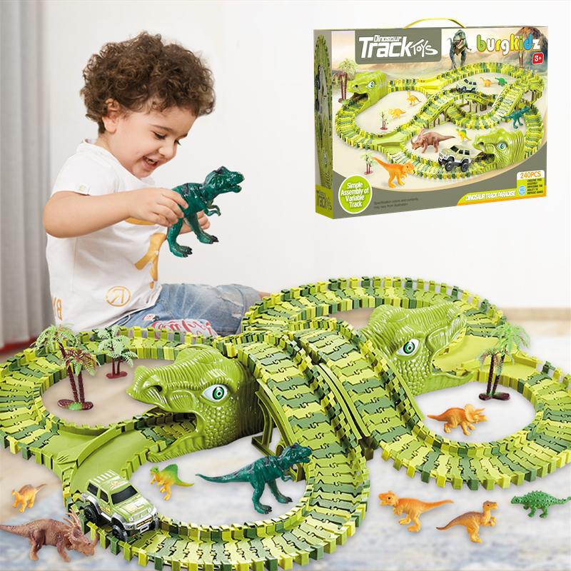 Лидер продаж, игрушечный автомобиль, треки, динозавры, автомобиль, игрушки, набор поездов, железная дорога, гоночный трек, автомобиль, детские игрушки для мальчиков, модель автомобиля 4 года