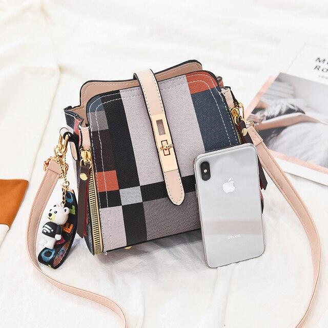 YIZHONG Fashion Women Bag Leather Luxury Brand Handbags Bucket Shoulder Bag Satchels Crossbody Bags for Women Messenger Bags 6
