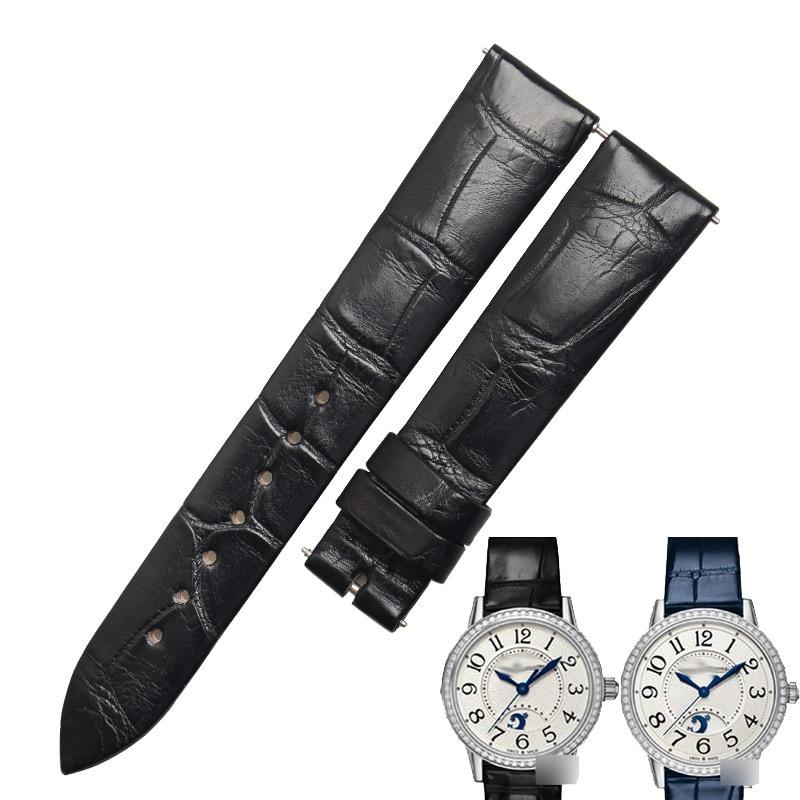 WENTULA Watctchbands For Jaeger LeCoultre Rendez-Vous Classic REVERSO Q3478421 Alligator Skin /crocodile Grain Strap Watch Band