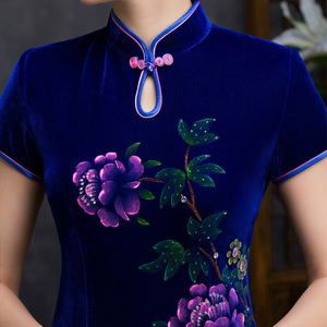 Image 4 - Quinceanera Ball Gown Spring New Nail Bead Hand painted Short Cheongsam Sleeve Daily Fashion High end Improvement Slim Original