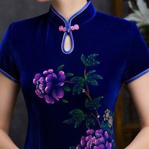 Image 4 - Quinceanera 볼 가운 봄 새로운 네일 구슬 손으로 그린 짧은 Cheongsam 슬리브 일일 패션 하이 엔드 개선 슬림 원래