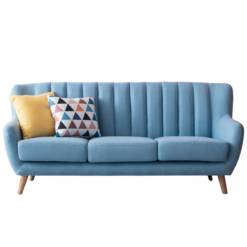 Fashion Simple Style Living Room Sofa 3 Seater Cloth Sofa Fabric Sofa Bed Couch