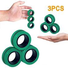 Bracelet magnétique Anti-stress pour enfants, anneau magique, Anti-stress, décompression
