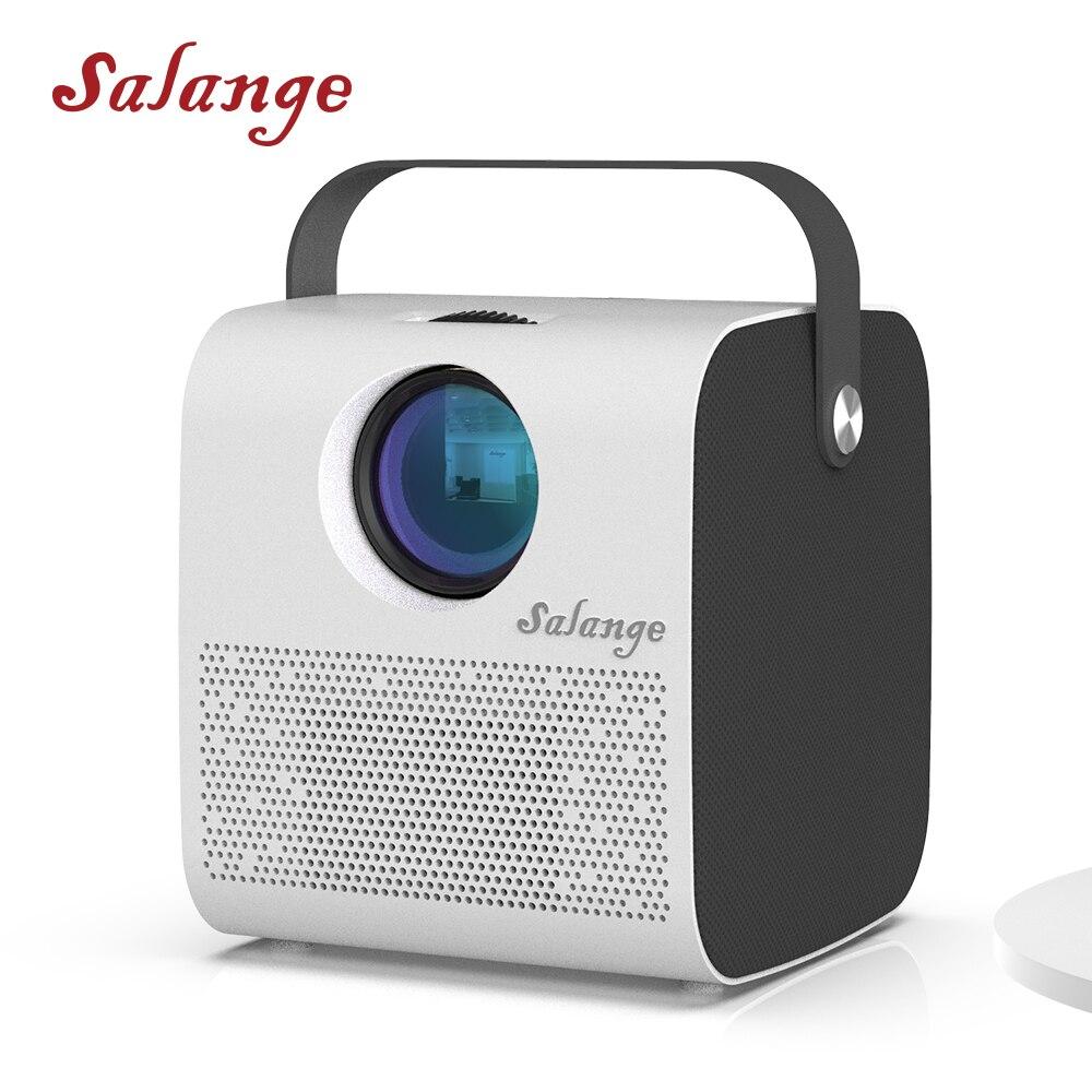 Salange projetor bluetooth p52, 1280*720p portátil vedio beamerhd multimídia 3800 lumens de cinema em casa com alto-falante bluetooth