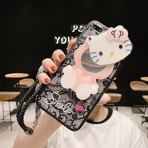 Image 5 - 3D Lace Kitty Mirror Case for Huawei Honor 10 10 lite 9 9i 9 lite 9x 9x pro 8a 8x 8s 8 8 lite 7 6x 5a Pendant Cover KONSMART